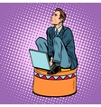 businessman worker on a circus pedestal vector image vector image