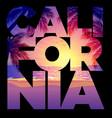 california text beach sunset vector image