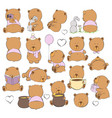 cartoon bears on a light background vector image vector image