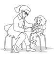 child and doctor vector image