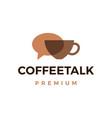 coffee talk logo icon vector image vector image