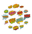 comic colored sound icons set in flat style vector image
