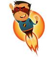 comic superhero blasting off vector image vector image