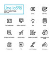 copywriting concept - line design style icons set vector image