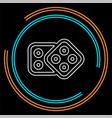 dices icon casino game icon vector image