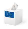 election in european union ballot box with vector image vector image