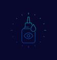 eye drops bottle linear icon vector image vector image