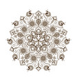 floral mandala in indian style vector image vector image