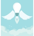 Flying winged ideas in the sky vector image vector image