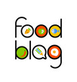food blog template vector image