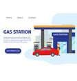 gas filling station web site template vector image