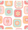 Geometric abstract squares seamless pattern vector image vector image