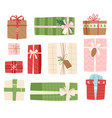 gift box present packs christmas or vector image vector image