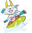 goat surfing vector image