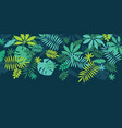 green simple tropical leaves design element vector image vector image