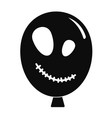 halloween ballon icon simple style vector image vector image