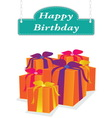 happy birthday label vector image vector image