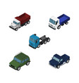 isometric car set of armored truck lorry and vector image vector image