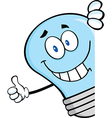 Light bulb thumbs up vector image vector image
