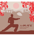 man training karate vector image vector image