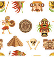 maya traditional attributes and ancient priceless vector image vector image