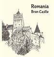 medieval bran castle in transylvania vector image vector image
