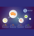 modern round icons concept vector image vector image