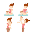Mother And Baby Set vector image vector image