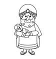 nativity wise man cartoon vector image vector image