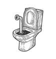 periscope in toilet sketch vector image
