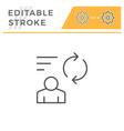 person feedback editable stroke line icon vector image vector image