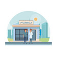 pharmacy store at city vector image