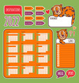 planner stikers 2022 with tiger printable vector image