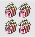 popcorn cartoon character expression vector image vector image