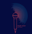 poster sound microphone vector image