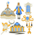rococo style decor and architecture jewelry and vector image vector image
