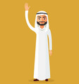 saudi man waving her hand isolate vector image vector image
