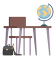 school class study room a chair and a desk for vector image vector image