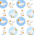 Seamless duck walking and swimming vector image vector image