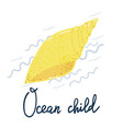 shell ocean child poster vector image vector image