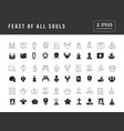 simple icons feast all souls vector image vector image