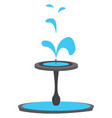simple of a blue fountain on white background vector image