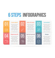 six steps infographics vector image vector image