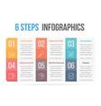 six steps infographics vector image