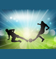 soccer or football player silhouettes on a vector image vector image