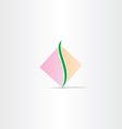 square spine logo design vector image vector image