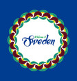 swedish ethnic ornament vector image vector image