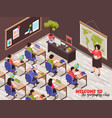 teachers and classroom poster vector image vector image