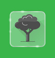 tree silhouette icon in flat style on transparent vector image vector image