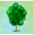 Triangle green tree vector image vector image